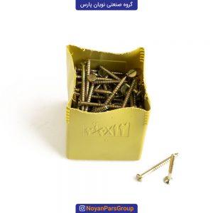 پیچ چوب سایز 2.5 در 12 بسته 144 عددی نویان پارس