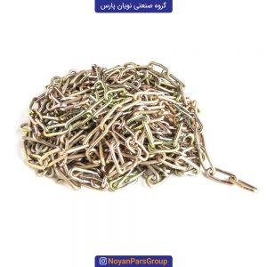 زنجیر 10 متری سایز 3 دانه ریز آبکاری طلایی نویان پارس