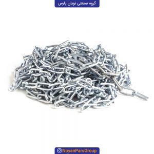 زنجیر 10 متری سایز 3 دانه ریز آبکاری نقره ای نویان پارس